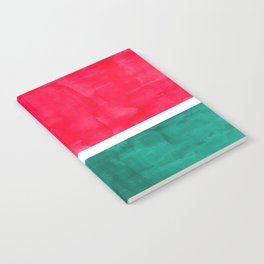 Rothko Minimalist Colorful Pop Art Mid Century Modern Bright Colors Watermelon Red Green Notebook