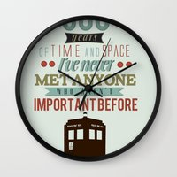 doctor who Wall Clocks featuring Doctor Who by Ashley