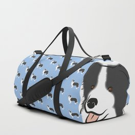 Border Collie Duffle Bag
