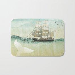 white tail, Moby Dick Bath Mat