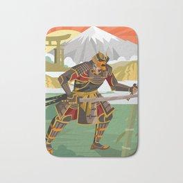 samurai warrior in the mountain Bath Mat