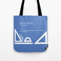 architect Tote Bags featuring architect by Be Raza