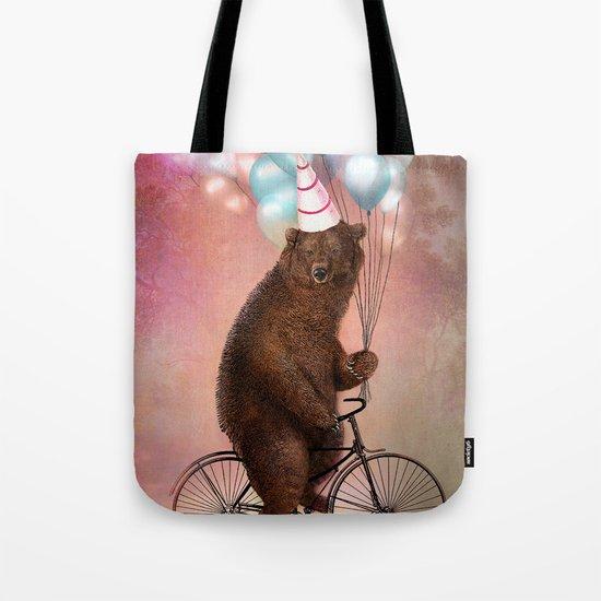 Birthday Bear Tote Bag