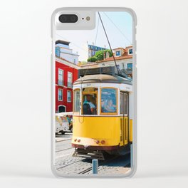 The Yellow Trolley Clear iPhone Case