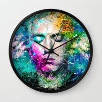 rap Wall Clocks featuring Rap God by Raditya Giga