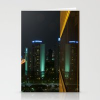 seoul Stationery Cards featuring Seoul Reflection by Anthony M. Davis