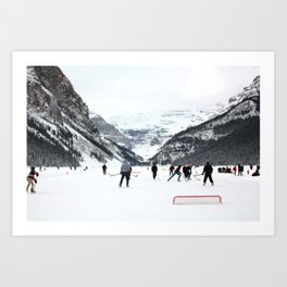 Winter in Lake Louise Art Print