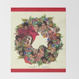 a-wreath-a Throw Blanket