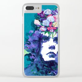 Flower man Clear iPhone Case