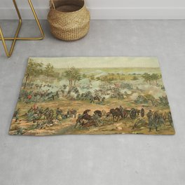 Civil War Battle of Gettysburg July 1-3 1863 by Paul Philippoteaux Rug