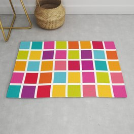 Colorful Square Pattern Rug
