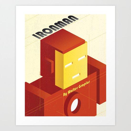 BAUHAUS SPIRIT - Ironman Art Print