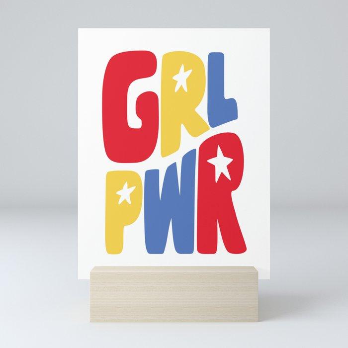 GRL PWR Star Mini Art Print