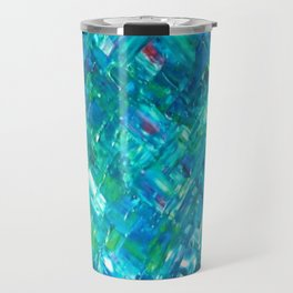 Psychedelic Blue Travel Mug