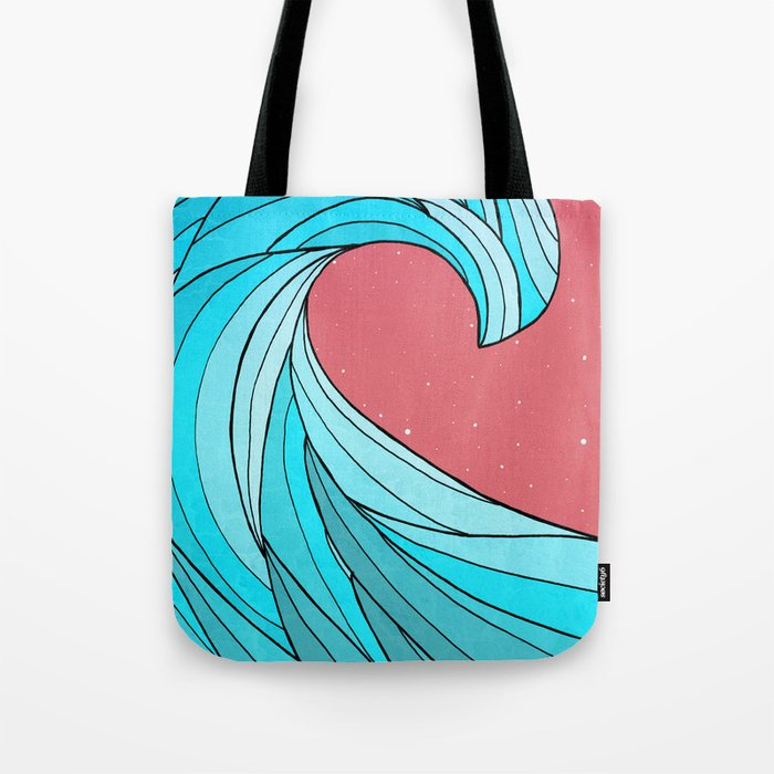The Lone Wave Tote Bag