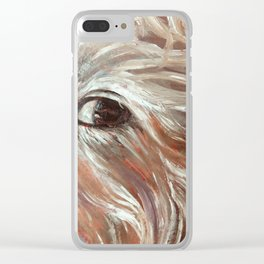 Everlasting Love (detail from Swan Song) Clear iPhone Case