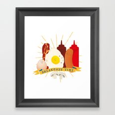 Breakfast time Framed Art Print