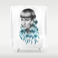 grimes Shower Curtains featuring Grimes by Nestor