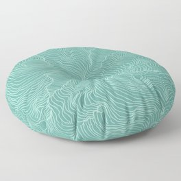 Teal Reality Floor Pillow