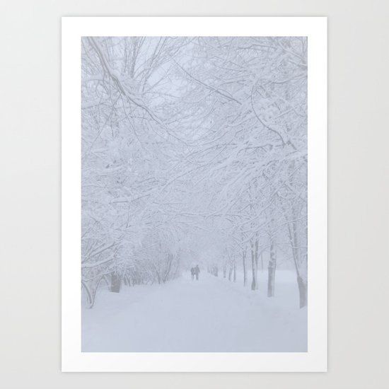 Path (Winter) Art Print