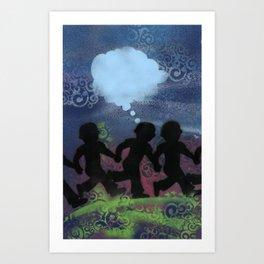 Boys Ban Together Art Print
