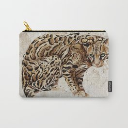 Ocelot Wild Cat Animal Painting Carry-All Pouch