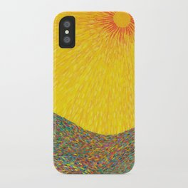 Here Comes the Sun - Van Gogh impressionist abstract iPhone Case