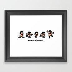 8-bit Andres 5 pose v1 Framed Art Print