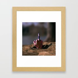 Could You Give Me a Hand, Please? Framed Art Print