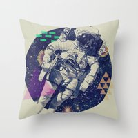 infinity Throw Pillows featuring INFINITY by Steven Kline