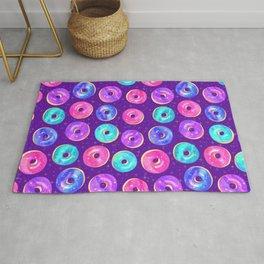 Galaxy Donuts on Purple Rug