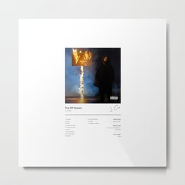 J. Cole - The Off-Season (Album Cover) Hip Hop Art Music Metal Print
