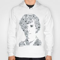 benedict cumberbatch Hoodies featuring Benedict Cumberbatch by Ron Goswami