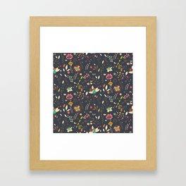 Flower pattern 02 Framed Art Print