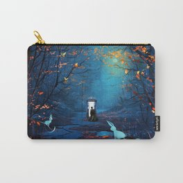 Tardis And The Doctor Lost In The Forest Carry-All Pouch