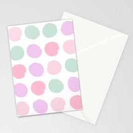 Dots pastels modern minimal dorm college office minimalist decor Stationery Cards