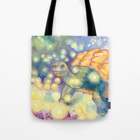 tortoise Tote Bags featuring Tortoise by Gregery Miller