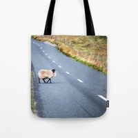 irish Tote Bags featuring Irish Sheep  by GF Fine Art Photography