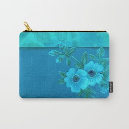 Teal paper flowers Carry-All Pouch