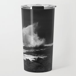 Black beach Travel Mug