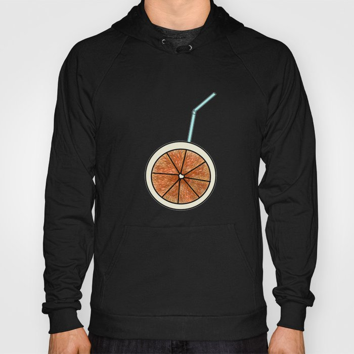 bright orange and cocktail straw . Home decor Hoody