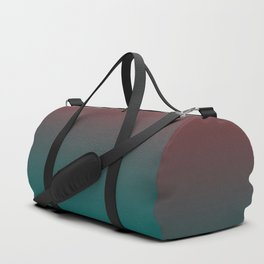 Ombre Quetzal Green Dark Red Pear Gradient Pattern Duffle Bag
