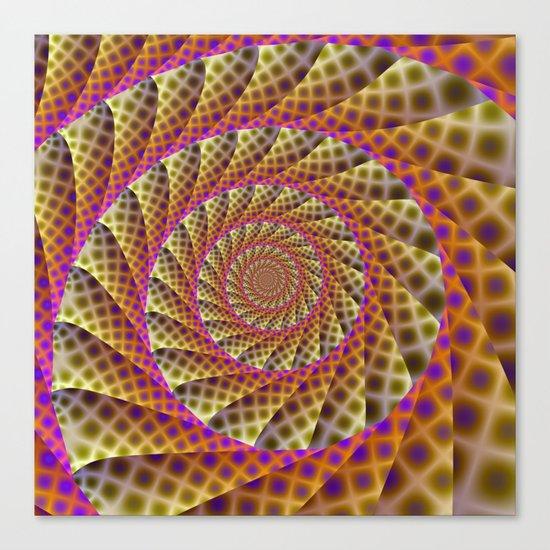 Leopard Skin Spiral Canvas Print