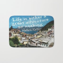"""Life is a Great Adventure."" Bath Mat"