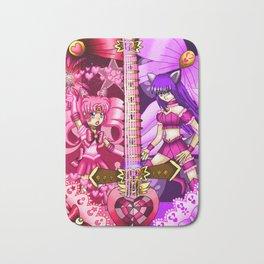 Sailor Mew Guitar #12 - Sailor Chibi Moon & Mew Zakuro Bath Mat