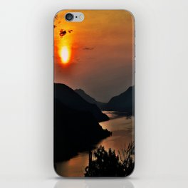 Sunset and the river iPhone Skin