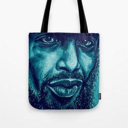 heron in blue Tote Bag