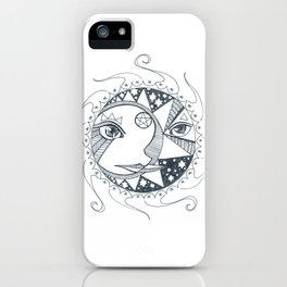 Moon, Sun, and Stars iPhone Case
