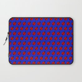 Ladybugs Pattern-Dark Blue Laptop Sleeve