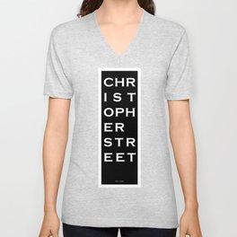 Christopher Street - NYC - Black Unisex V-Neck